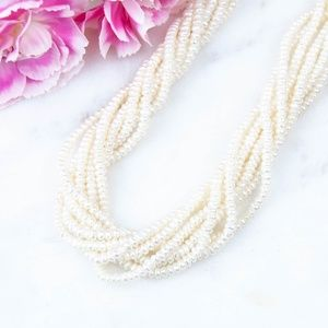 Jewelry - Mini Faux Pearl Multi-Strand Necklace
